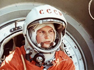 Valentina Tereshkova, the first woman in space.
