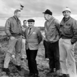 Neil Armstrong with the Icelandic prime minister and the US ambassador